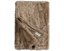 Faux Fur Throw Fox