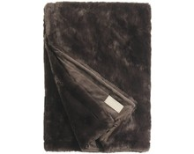 Faux Fur Throw Seal Espresso