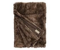 Faux Fur Throw Brown Bear