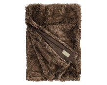 Faux Fur Throw Brown Bear