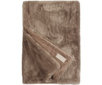 Faux Fur Throw Seal Cappuccino