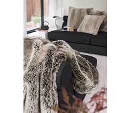 Faux Fur Throw Yukonwolf