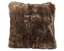 Faux Fur Cushion Brown bear