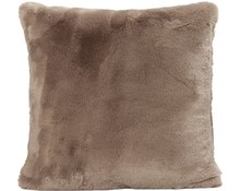 Faux Fur Cushion Seal Cappuccino