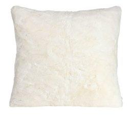 Faux Fur Cushion Seal Snow-White