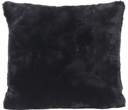 Faux Fur Cushion Seal Black