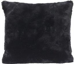 Luxe Imitatiebont Kussen Seal Black
