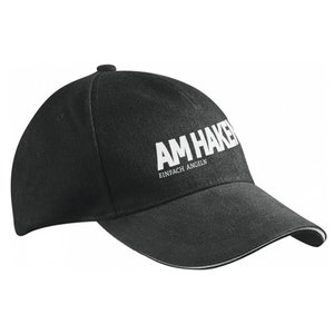 """Am Haken Cap """"AM HAKEN"""", schwarz"""