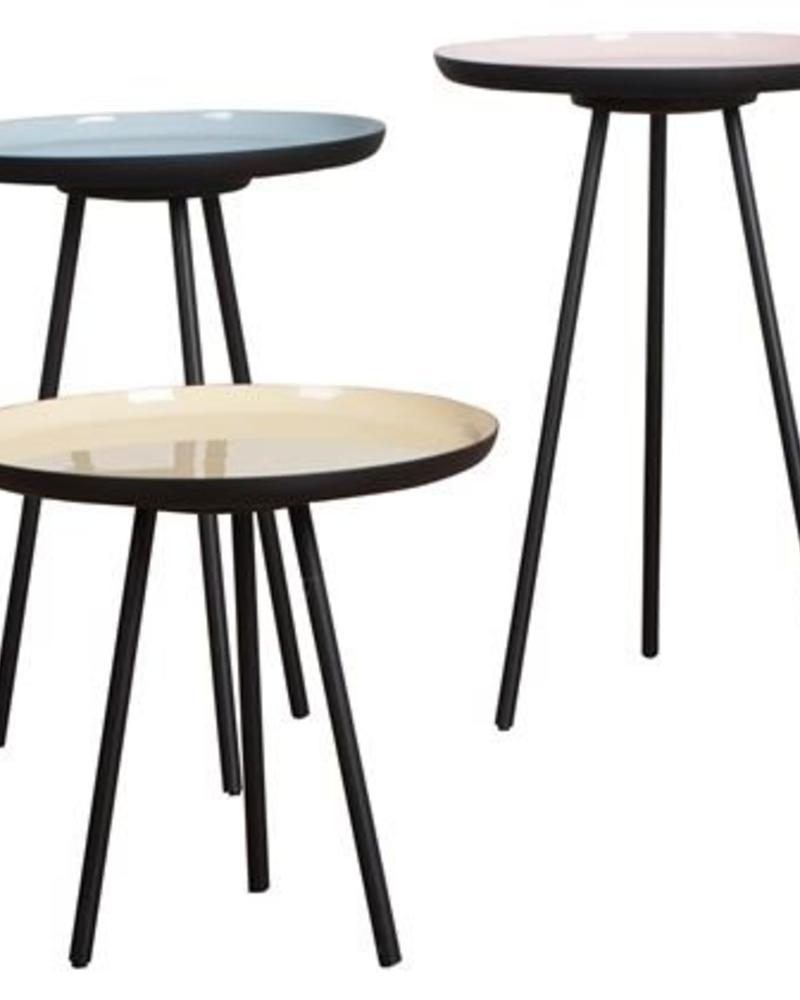 Sparkle Style emaille set van drie tafeltjes