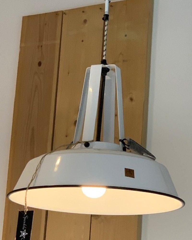 HK Living Industrial Workshop hanglamp L Wit