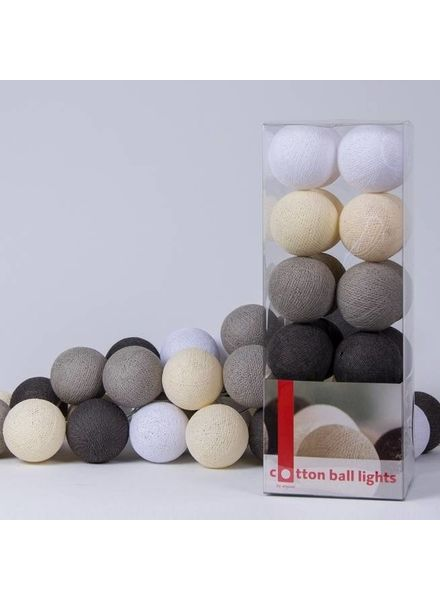 Cotton Ball Lights Fairtrade