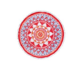 Seahorse Roundie Mandala (Red)