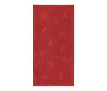 Seahorse Strandlaken Shells (Red)