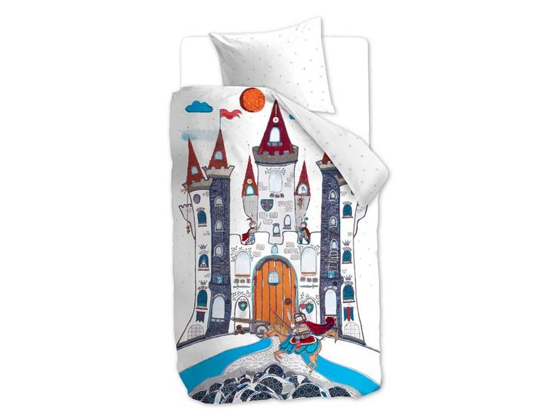 Beddinghouse Beddinghouse Kids Dekbedovertrek Dragon Castle (Grey) - 140x200/220