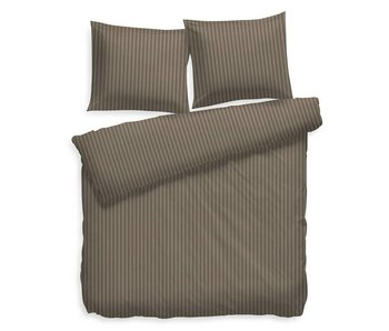 Heckett & Lane Satin Stripe (Taupe Grey)