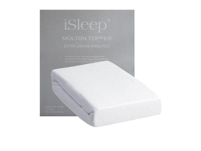 iSleep iSleep Molton Topper (Wit)