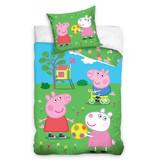 Peppa Pig Peppa Pig dekbedovertrek Playing Outside (Multi)