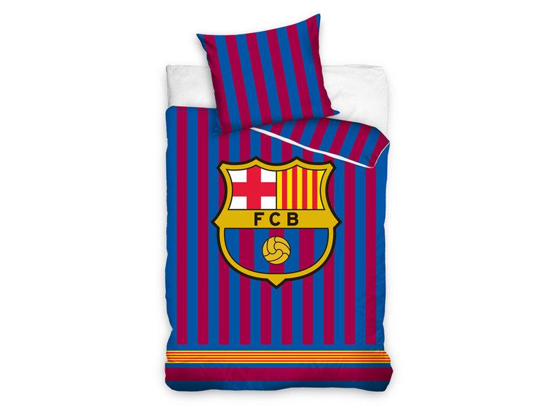 FC Barcelona FC Barcelona dekbedovertrek Striped (Red/Blue)