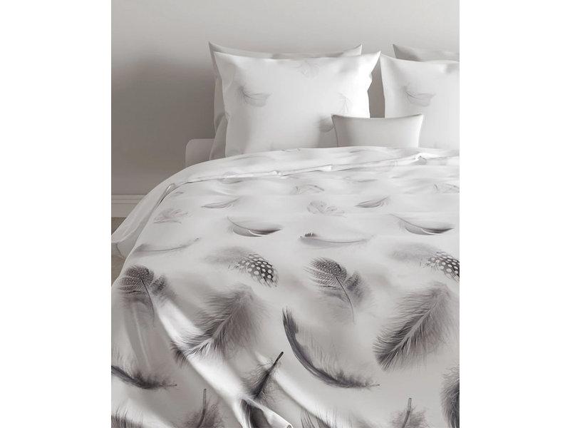 Zo! Home Zo! Home Flanel dekbedovertrek Feathers (Grey)