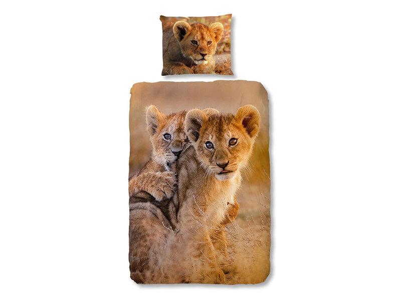 Good Morning Good Morning dekbedovertrek Baby Lion (Sand)