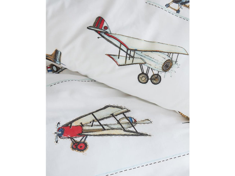 Beddinghouse Beddinghouse Kids dekbedovertrek Airplanes (Grey)