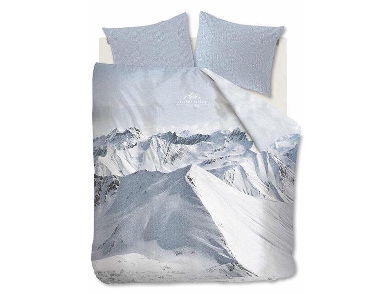 Rivièra Maison Rivièra Maison dekbedovertrek Moritz Mountain (Blue Grey)