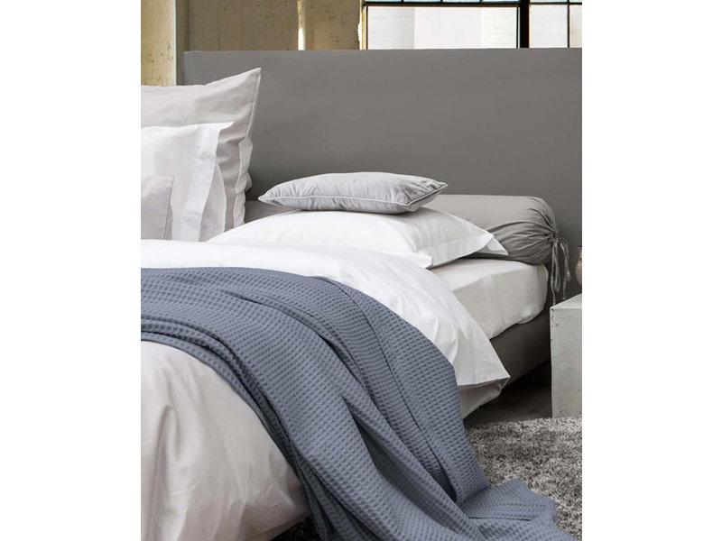 Heckett & Lane Heckett & Lane Bedsprei Wafel Plaid (Steel Blue)