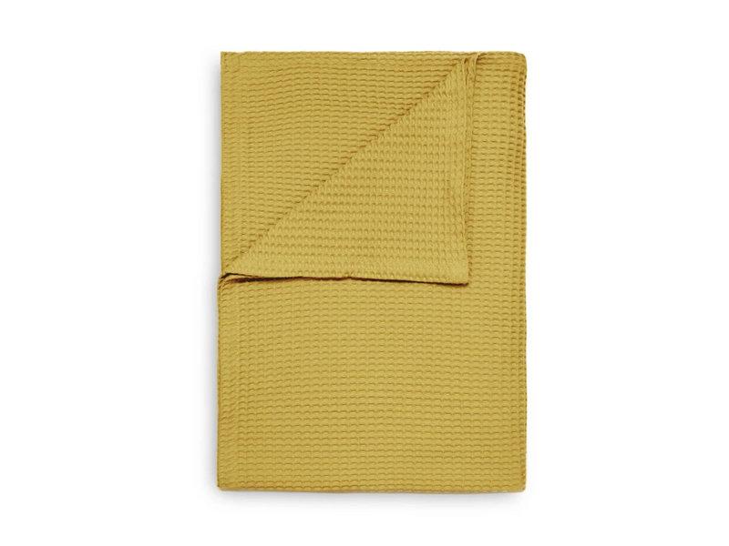 Heckett & Lane Heckett & Lane Bedsprei Wafel Plaid (Curry Yellow)