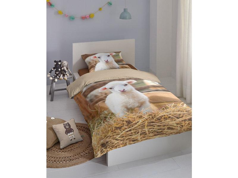 Good Morning Good Morning dekbedovertrek Lamb (Multi)