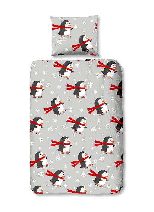 Good Morning Flanel Pinguins (Grey)