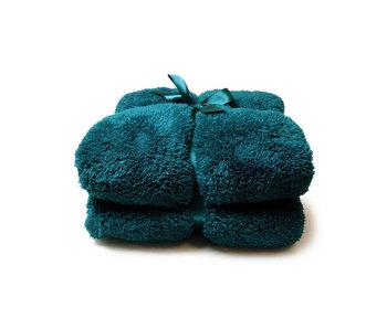 Unique Living Plaid Teddy (Eveglade Blue)