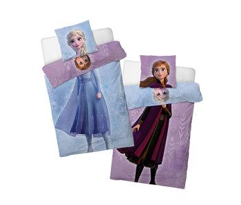 Frozen II dekbedovertrek Else or Anna (Blauw/Paars)