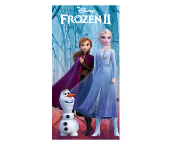 Frozen II Strandlaken Elsa, Anna en Olaf (Multi)