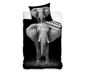 Dekbedovertrek Noble Elephant (Zwart/Grijs)
