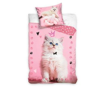 Dekbedovertrek Queen Cat (Pink)
