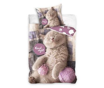 Dekbedovertrek Good Night Cat (Multi)
