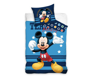 Mickey Mouse dekbedovertrek Team Mickey (Blue)
