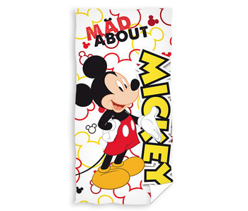 Mickey Mouse strandlaken Mad About (White)
