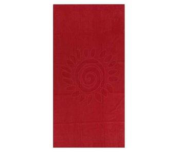 HnL Bath Strandlaken Flower (Red)