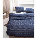 At Home At Home Flanel dekbedovertrek Wools (Navy)