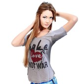 Dames T-shirt 'Make Love Not War'