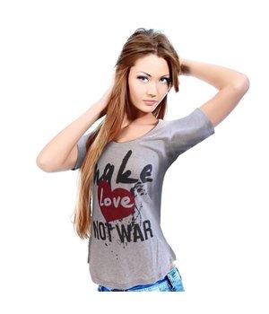 Dames T-shirt 'Make Love Not War'