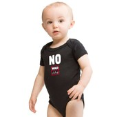 Baby romper zwart- No War Child