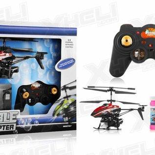 Bestuurbare bellenblaas helicopter (3-kanaals, micro model)