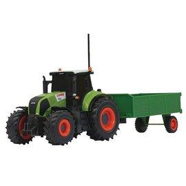 Jamara Tractor Claas Axion 850 met aanhanger 1:28