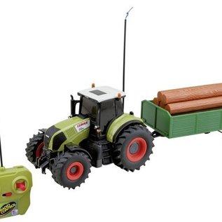 Jamara Radiografische tractor Claas Axion 850 met aanhanger 1:28