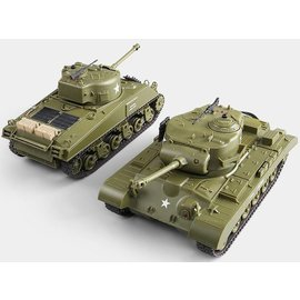 Battle Tanks 1:30 (twee stuks, fighting set)