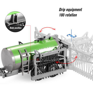 Double Horse Radiografisch bestuurbare Tractor XL met sproeiwagen 1:16