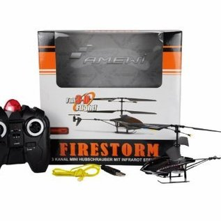Amewi Firestorm Black helikopter (3-kanaals, micro model)