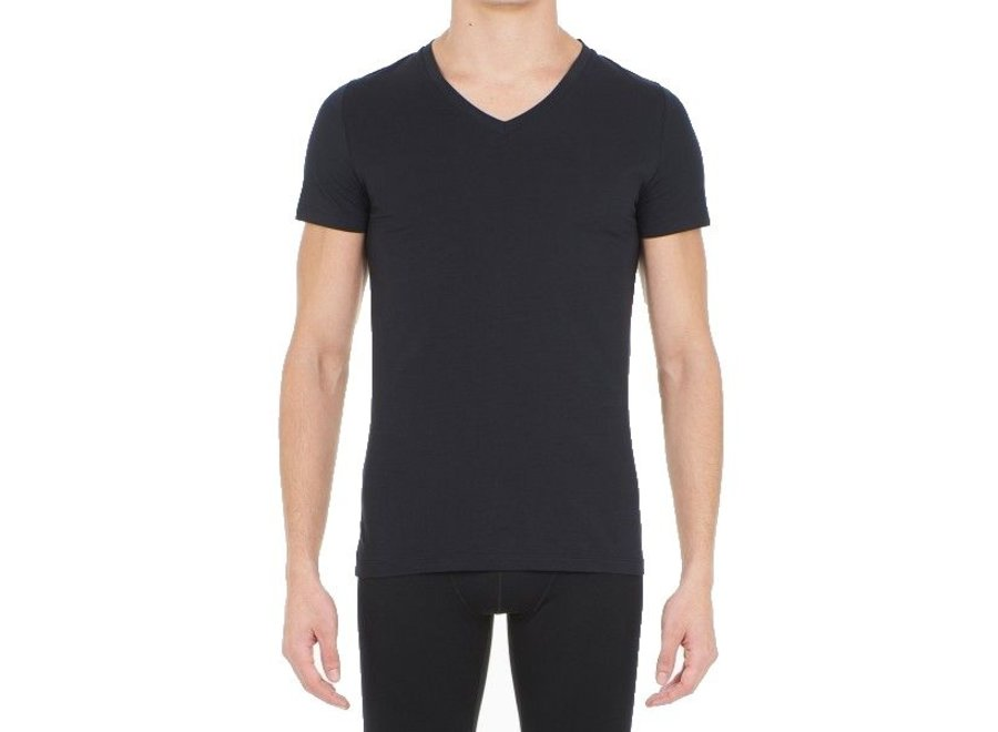 HOM Supreme Cotton Tee-Shirt V Neck Black
